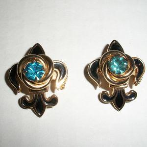 Vintage Fleur De Lis Brooch Pins Pendants